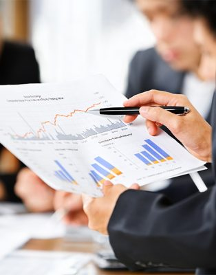 People examining graphs
